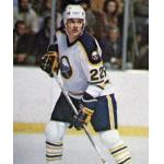 Buffalo Sabres (1981) Lindy Ruff wearing Buffalo Sabres home white uniform during the 1980/81 season