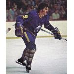 Buffalo Sabres (1977) Jacques Richard wearing Buffalo Sabres road blue uniform during 1976/77 season