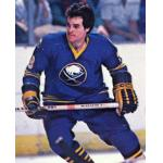 Buffalo Sabres (1979) Bill Stewart wearing Buffalo Sabres road blue uniform during 1978/79 season