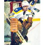 Buffalo Sabres (1979) Bob Sauve wearing Buffalo Sabres home white uniform during 1978/79 season