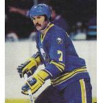 Buffalo Sabres (1979) Rick Martin wearing Buffalo Sabres road blue uniform during 1978/79 season