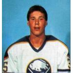 Buffalo Sabres (1984) Dave Andreychuk wearing Buffalo Sabres home uniform during 1983-84 season