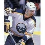Buffalo Sabres (1986) Brian Engblom wearing Buffalo Sabres home uniform during 1985-86 season