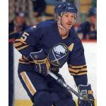 Buffalo Sabres (1987) Mike Ramsey wearing Buffalo Sabres road uniform during 1986-87 season