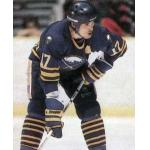 Buffalo Sabres (1988) Mike Foligno wearing Buffalo Sabres road uniform during 1987-88 season