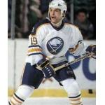 Buffalo Sabres (1991) Tony Tanti wearing Buffalo Sabres home uniform during 1990-91 season