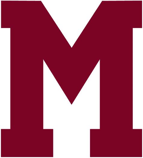 Montreal Maroons Logo Primary Logo (1935/36-1937/38) - A large maroon M SportsLogos.Net