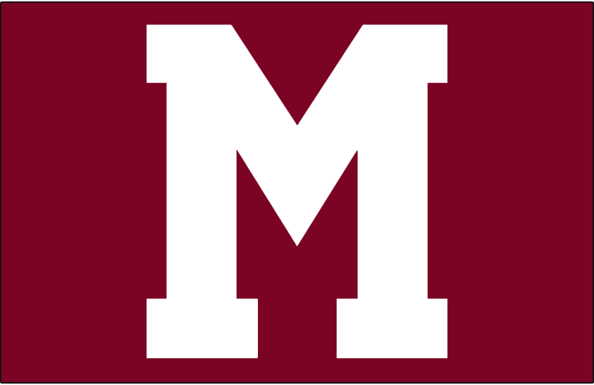 Montreal Maroons Logo Jersey Logo (1935/36-1937/38) - A large white M outlined in maroon, worn on Montreal Maroons jersey their final three seasons SportsLogos.Net