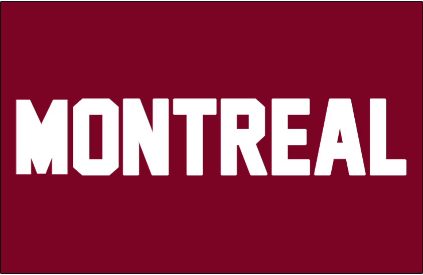 Montreal Maroons Logo Jersey Logo (1924/25) - MONTREAL in white on a maroon jersey, worn during their first season only SportsLogos.Net