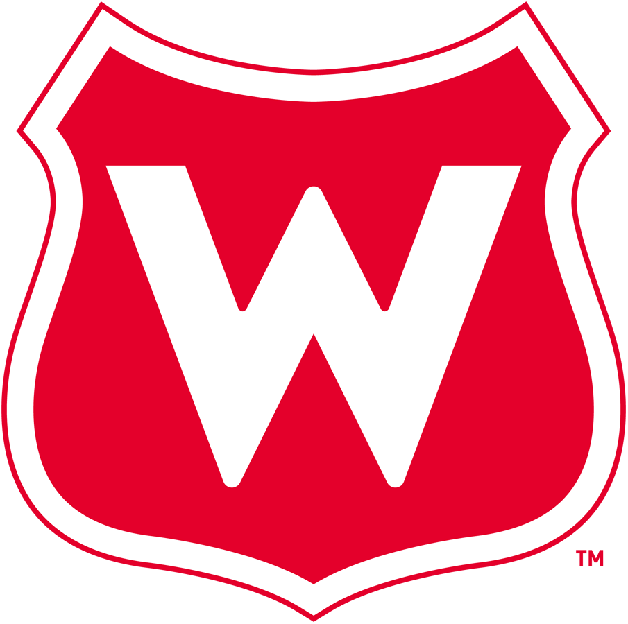 Montreal Wanderers Logo Primary Logo (1917/18) - A white 'W' on a red shield SportsLogos.Net