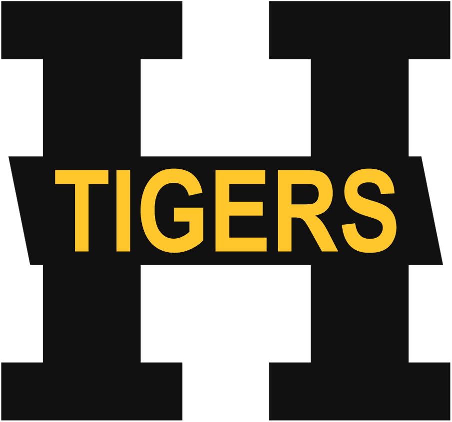 Hamilton Tigers Logo Primary Logo (1923/24-1924/25) - Black H with Tigers in orange SportsLogos.Net