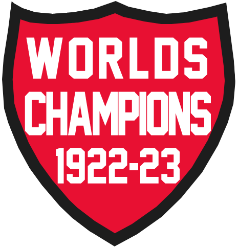 Ottawa Senators Logo Champion Logo (1922/23) - 1922-23 Ottawa Senators Worlds Champs (Stanley Cup) logo shield SportsLogos.Net
