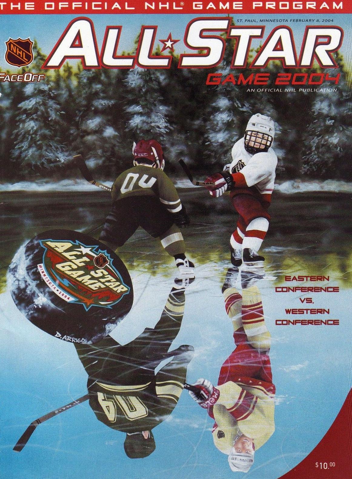 NHL All-Star Game Program Program (2003/04) - 2004 NHL All-Star Game Program - game held in St Paul, MN SportsLogos.Net