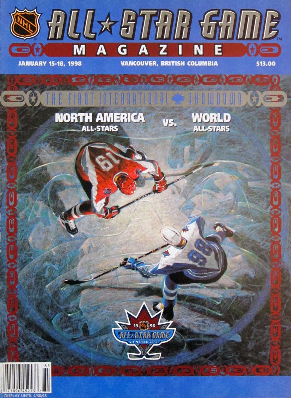 NHL All-Star Game Program Program (1997/98) - 1998 NHL All-Star Game program cover - game held in Vancouver, BC SportsLogos.Net