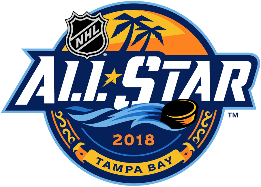 NHL All-Star Game Logo Primary Logo (2017/18) - 2018 NHL All-Star Game Logo - game played in Tampa, FL SportsLogos.Net