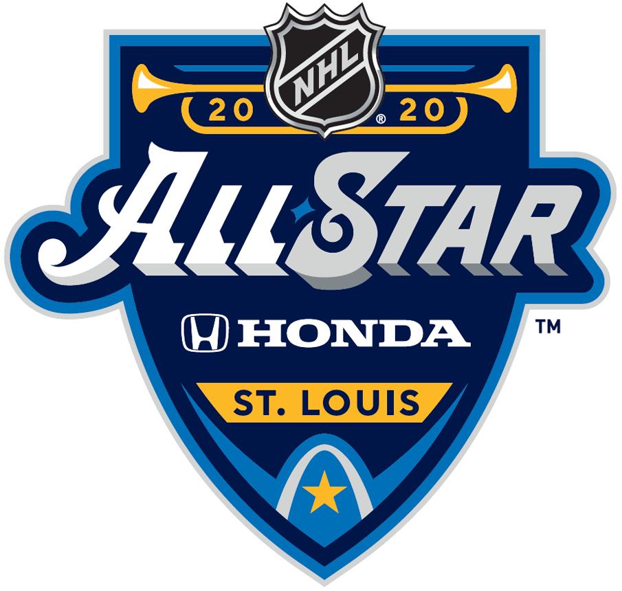 NHL All-Star Game Logo Sponsored Logo (2019/20) - 2020 Honda NHL All-Star Game Logo hosted by St Louis Blues SportsLogos.Net