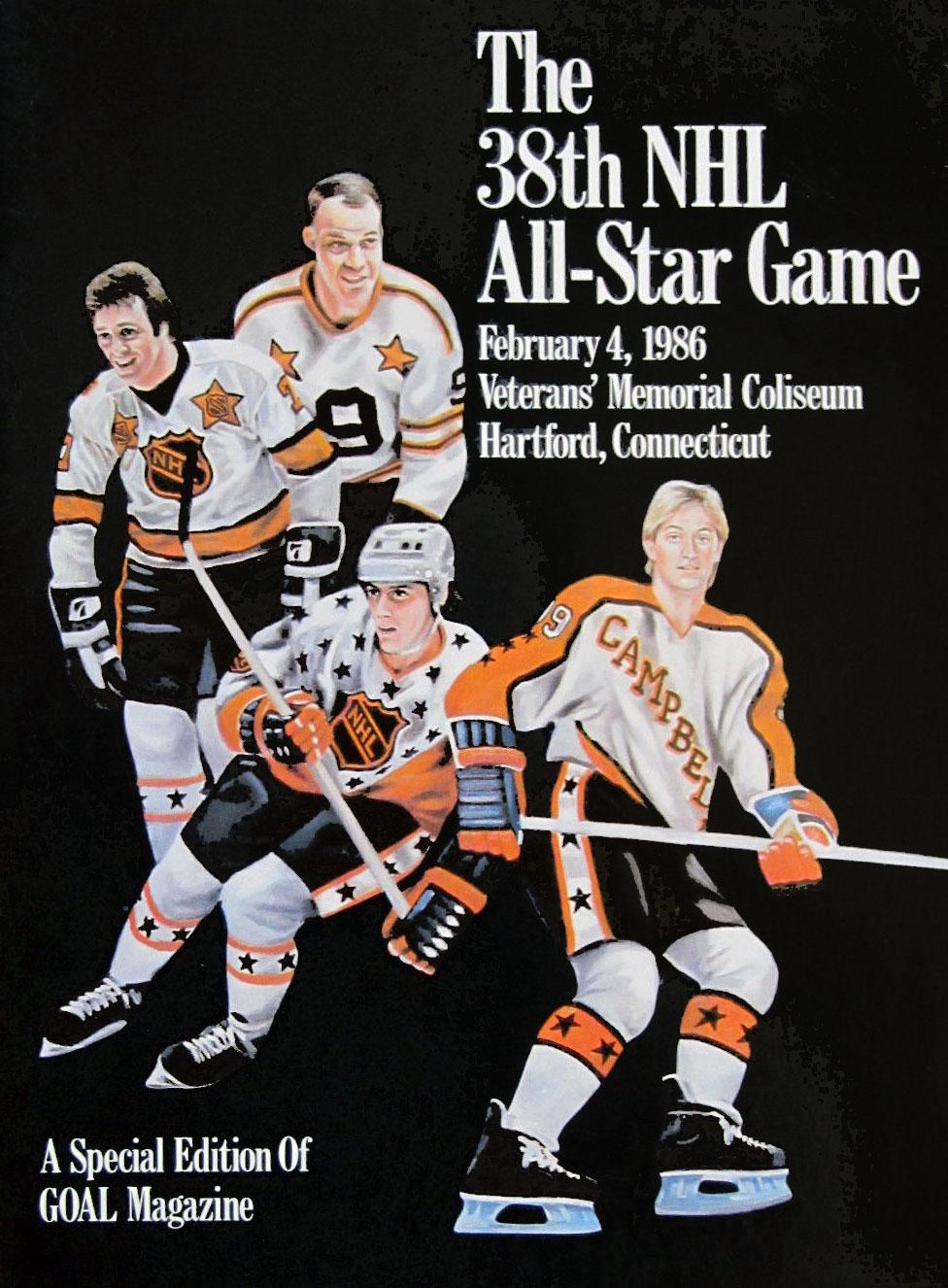 NHL All-Star Game Program Program (1985/86) - 1986 NHL All-Star Game program cover - game held in Hartford, CT SportsLogos.Net