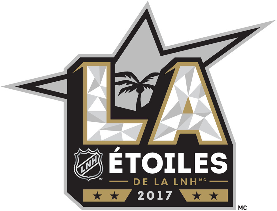 NHL All-Star Game Logo Alt. Language Logo (2016/17) - 2017 NHL All-Star Game Logo in french - logo pour les étoiles de la LNH 2017 en francais - joué à Los Angeles SportsLogos.Net