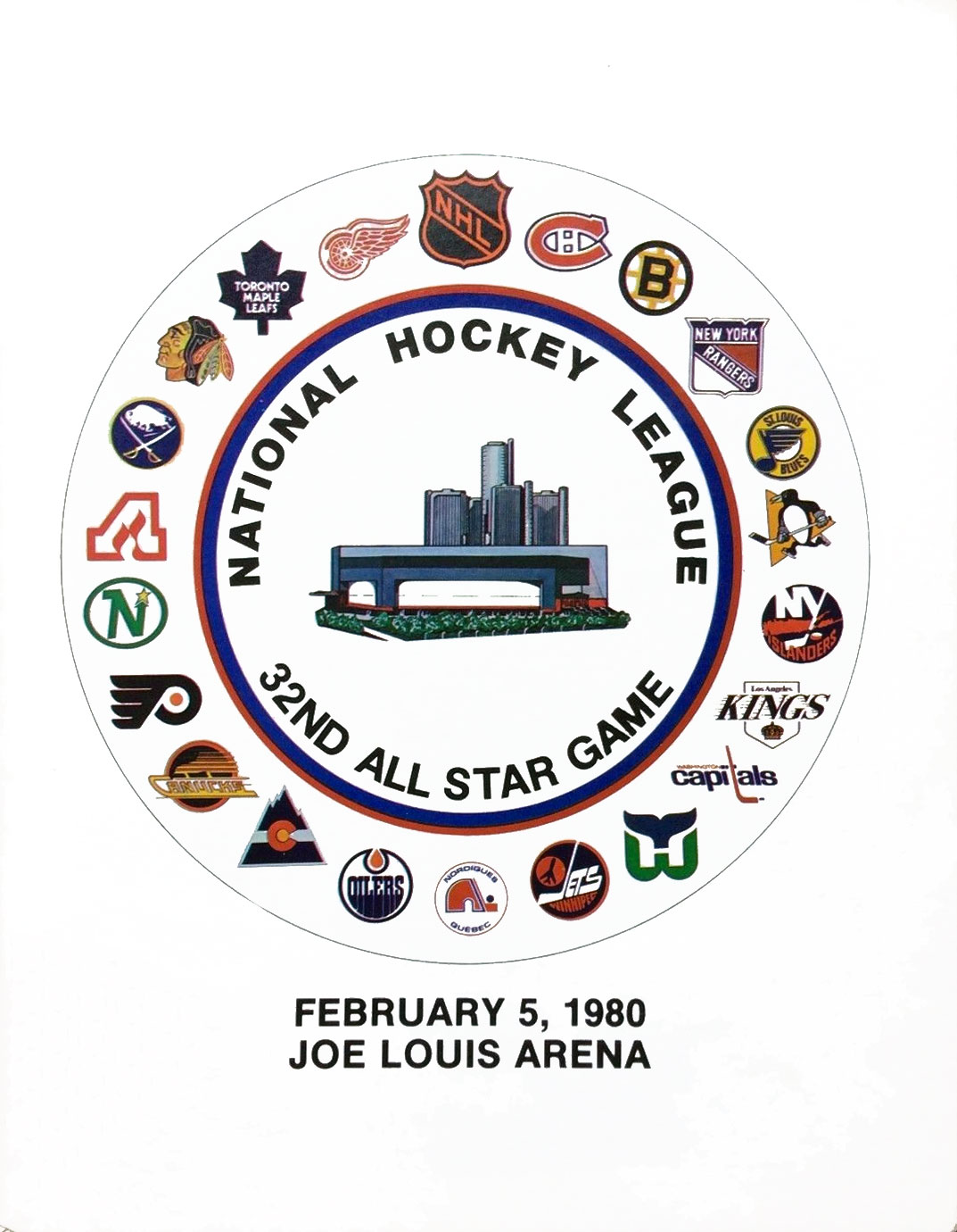 NHL All-Star Game Program Program (1979/80) - 1980 NHL All-Star Game Program - game held in Detroit, MI SportsLogos.Net