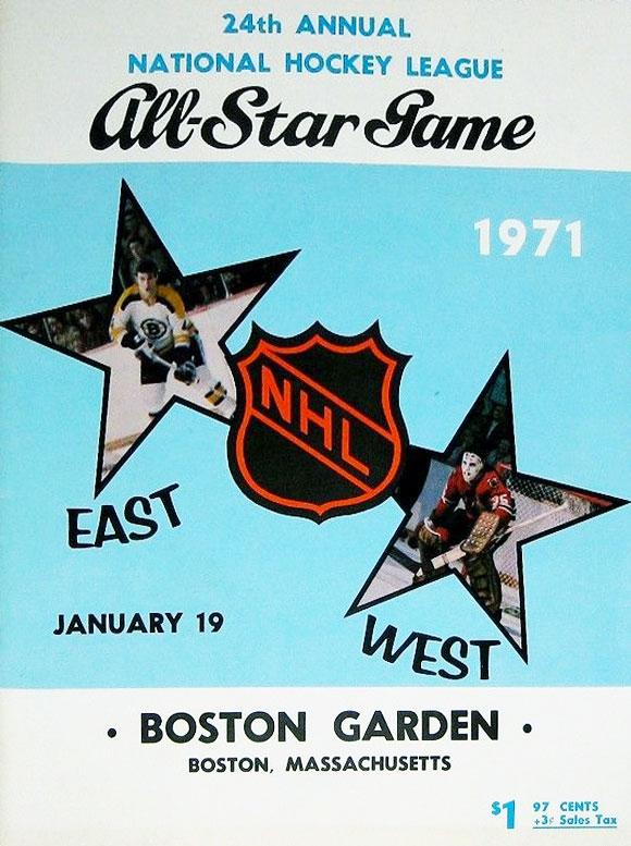 NHL All-Star Game Program Program (1970/71) - 1971 NHL All-Star Game program cover - game held in Boston, MA SportsLogos.Net