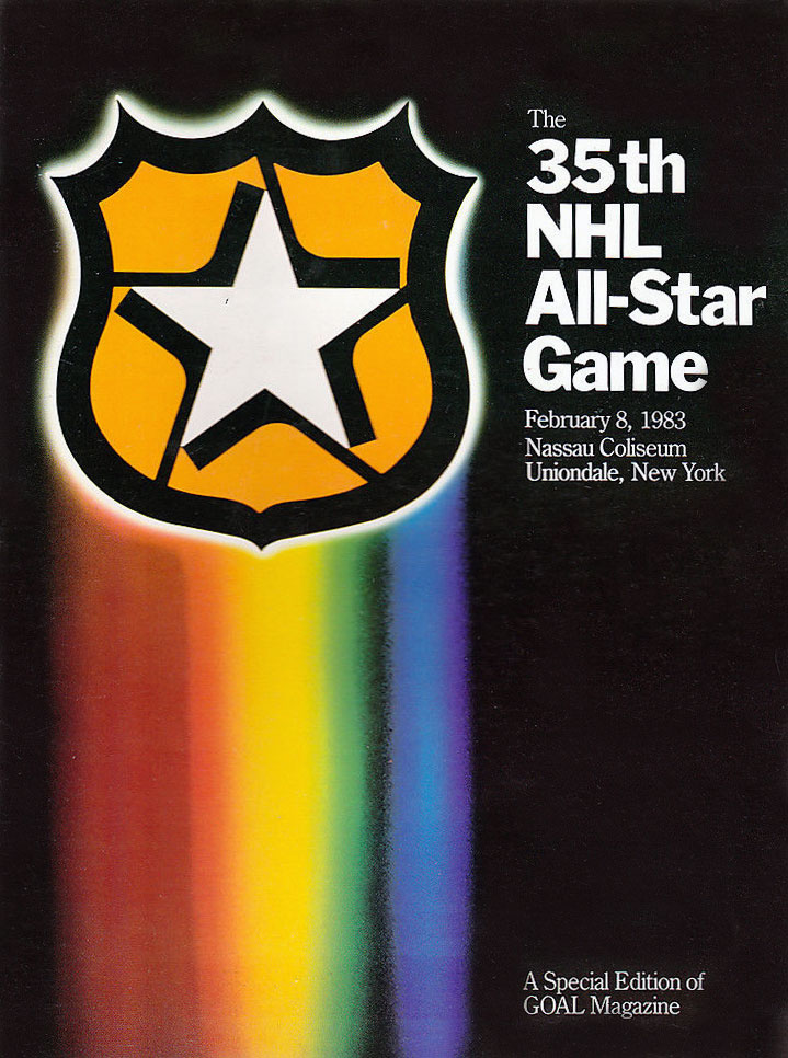 NHL All-Star Game Program Program (1982/83) - 1983 NHL All-Star Game Program cover - game played in Uniondale, NY SportsLogos.Net