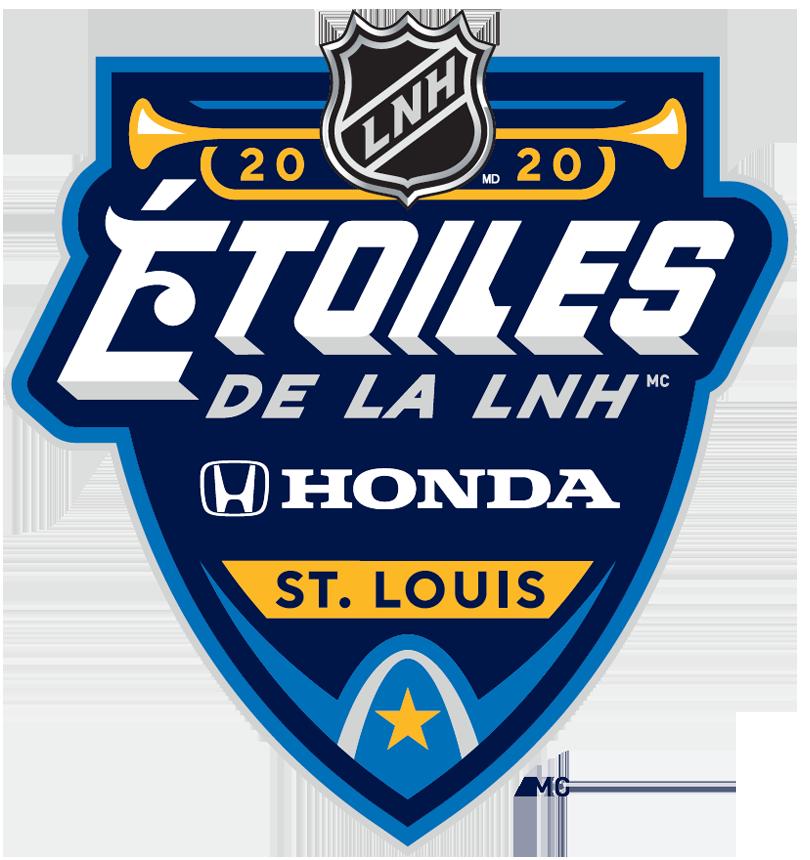 NHL All-Star Game Logo Alt. Language Logo (2019/20) - Logo pour 2020 Match d'Étoiles de la LNH Honda en français. 2020 NHL All-Star Game Logo French version SportsLogos.Net