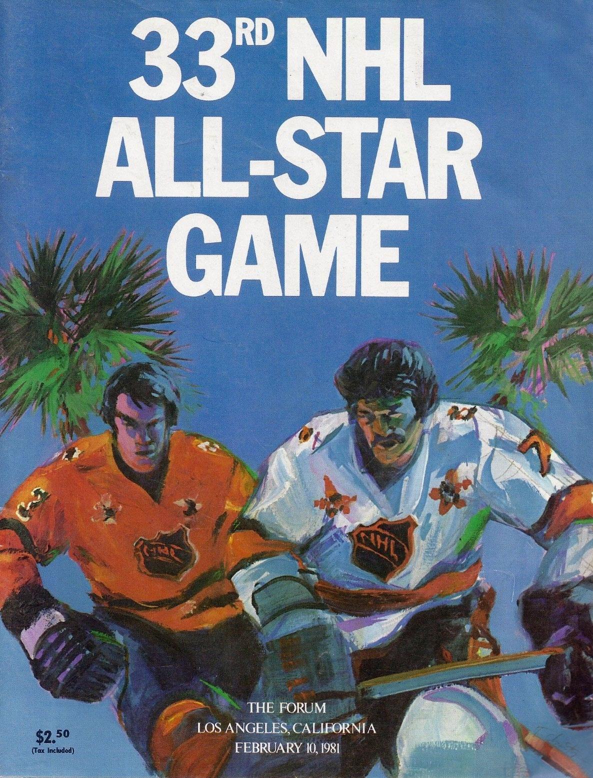 NHL All-Star Game Program Program (1980/81) - 1981 NHL All-Star Game program cover - game held in Los Angeles, CA SportsLogos.Net