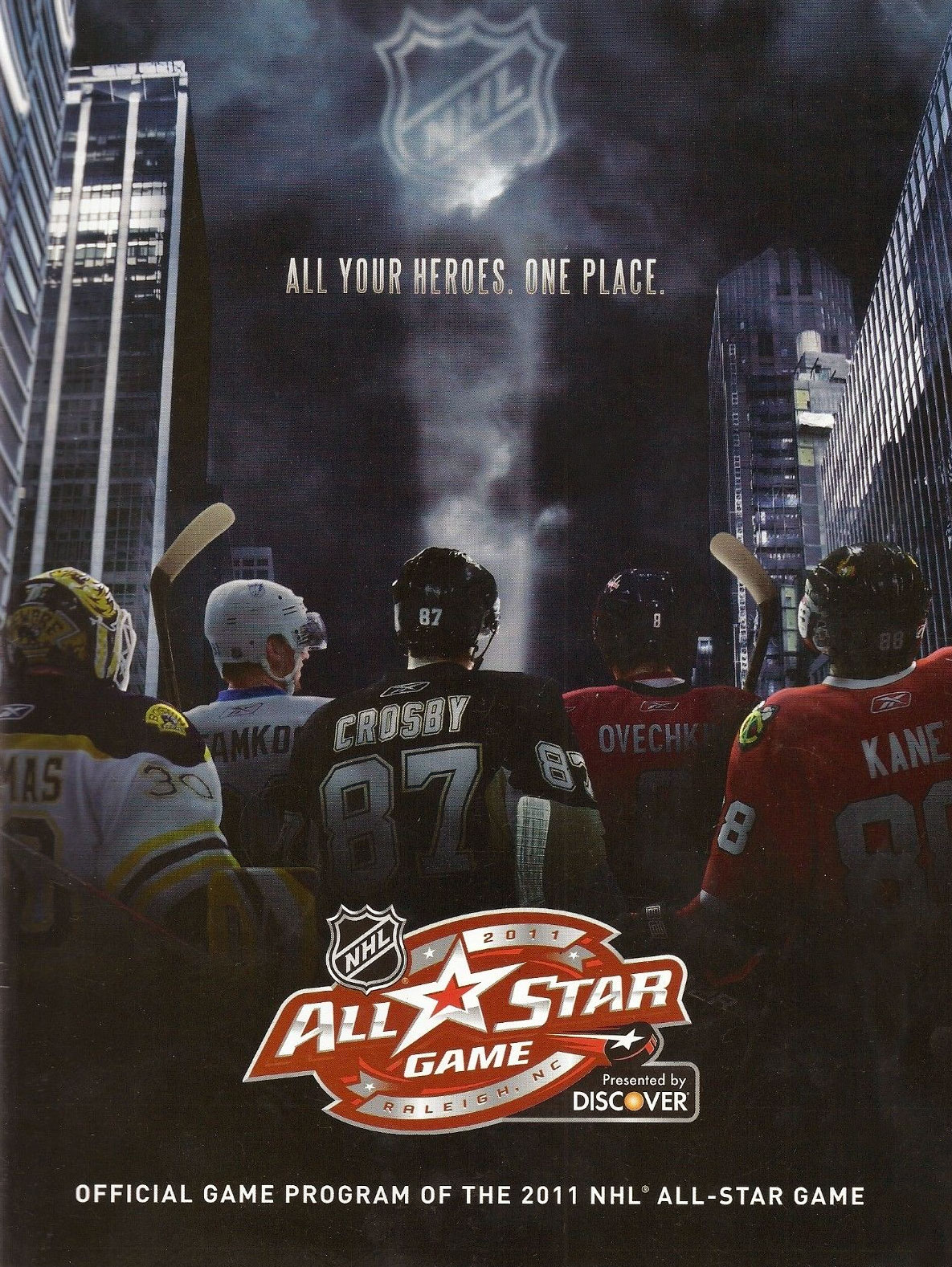 NHL All-Star Game Program Program (2010/11) - 2011 NHL All-Star Game program cover - game held in Raleigh, NC SportsLogos.Net