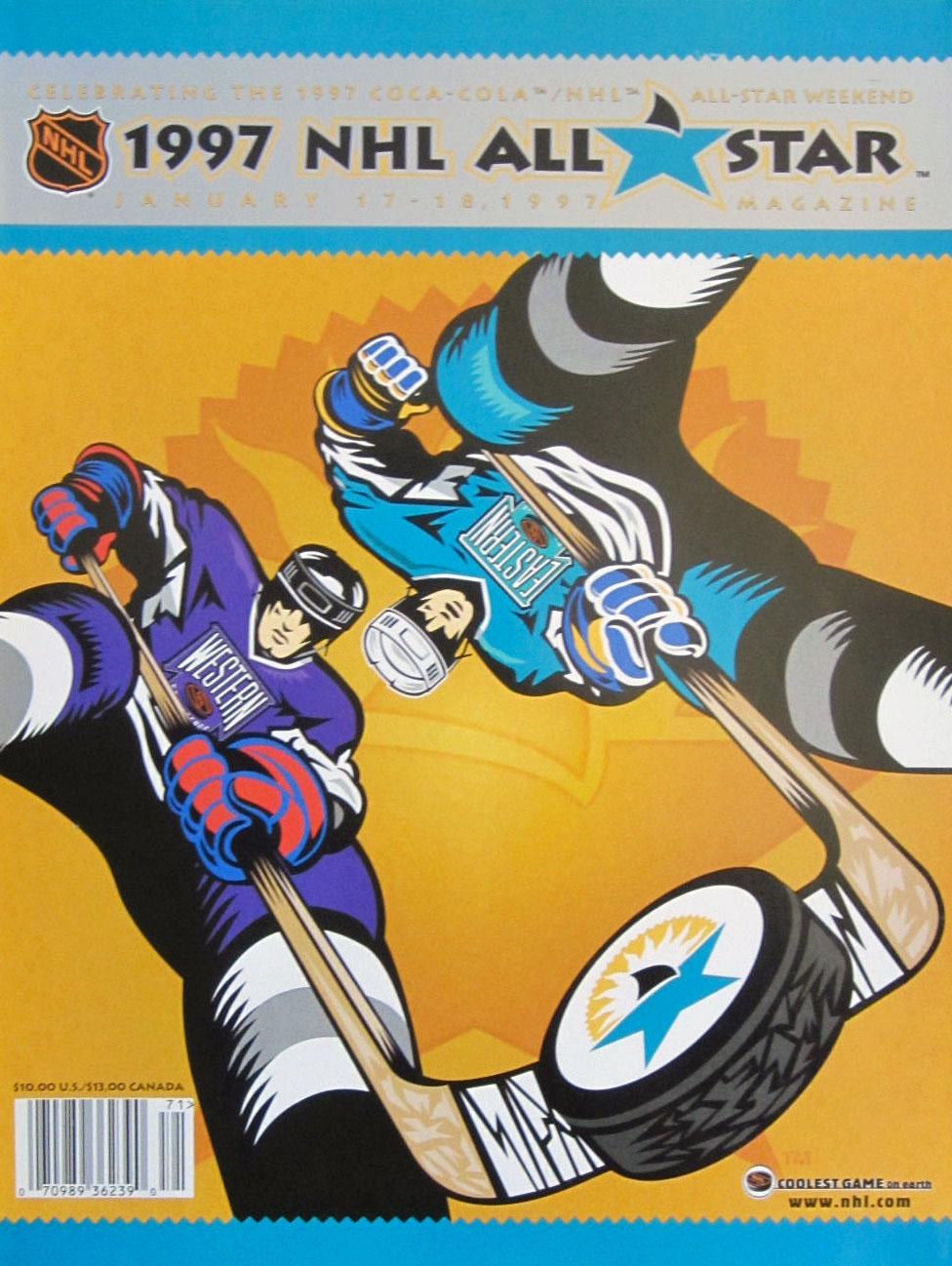NHL All-Star Game Program Program (1996/97) - 1997 NHL All-Star Game program cover - game held in San Jose, CA SportsLogos.Net