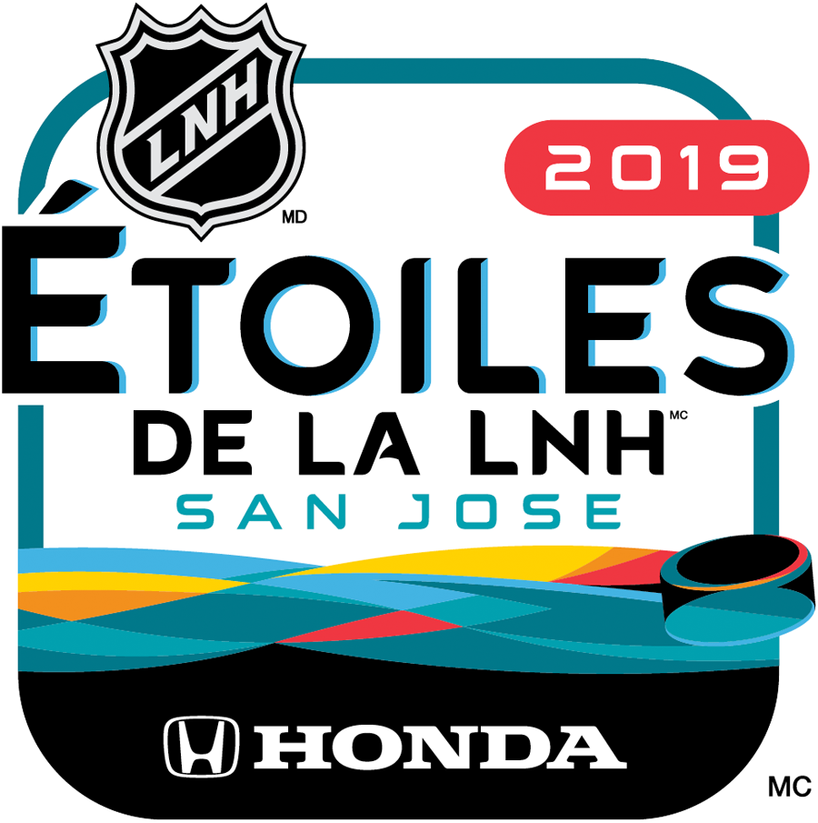 NHL All-Star Game Logo Alt. Language Logo (2018/19) - 2019 NHL All-Star Game Logo in French - Logo pour le match des étoiles de la LNH 2019 en français SportsLogos.Net