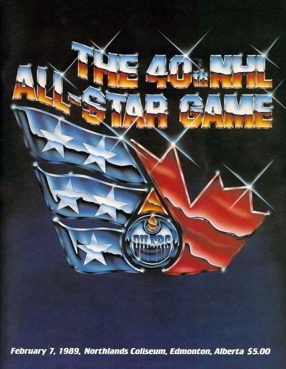 NHL All-Star Game Program Program (1988/89) - 1989 NHL All-Star Game Program cover - game played in Edmonton, AB SportsLogos.Net
