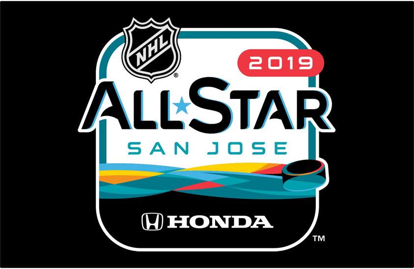 NHL All-Star Game Logo Primary Dark Logo (2018/19) - 2019 NHL All-Star Game Logo on black SportsLogos.Net
