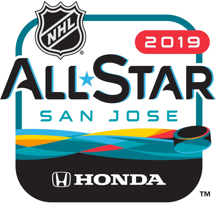 NHL All-Star Game Logo Sponsored Logo (2018/19) - 2019 NHL All-Star Game Sponsored Logo - game played in San Jose, California and hosted by the San Jose Sharks SportsLogos.Net