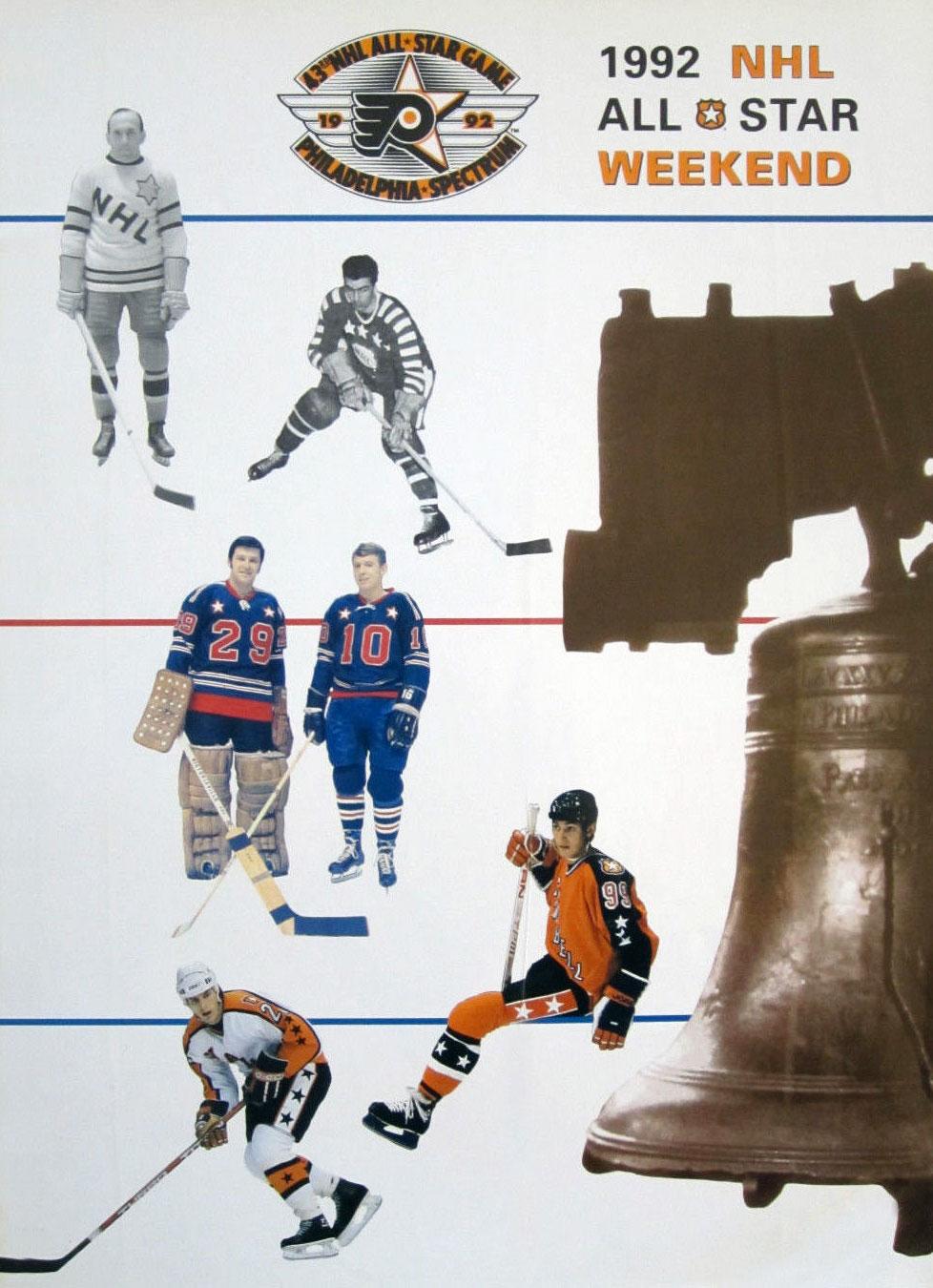 NHL All-Star Game Program Program (1991/92) - 1992 NHL All-Star Game Program - Philadelphia, PA hosted by Philadelphia Flyers SportsLogos.Net