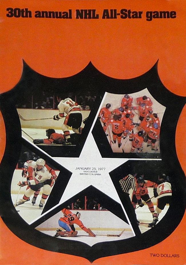 NHL All-Star Game Program Program (1976/77) - 1977 NHL All-Star Game program cover - game held in Vancouver, BC SportsLogos.Net