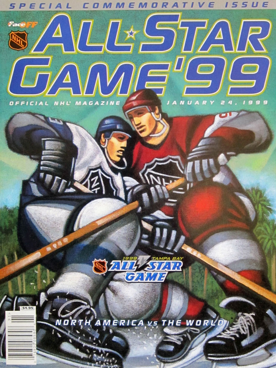NHL All-Star Game Program Program (1998/99) - 1999 NHL All-Star Game Program - Tampa, FL hosted by Tampa Bay Lightning SportsLogos.Net