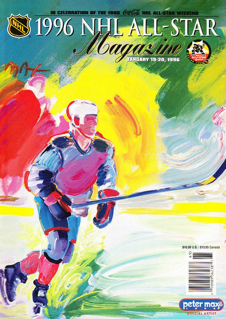 NHL All-Star Game Program Program (1995/96) - 1996 NHL All-Star Game Program - Boston, MA hosted by Boston Bruins SportsLogos.Net