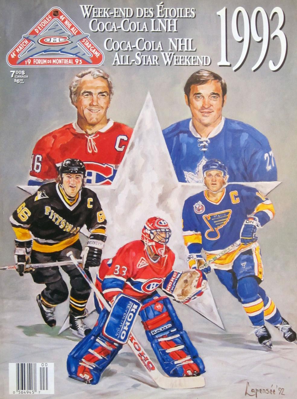 NHL All-Star Game Program Program (1992/93) - 1993 NHL All-Star Game Program - Montreal, QC hosted by Montreal Canadiens SportsLogos.Net