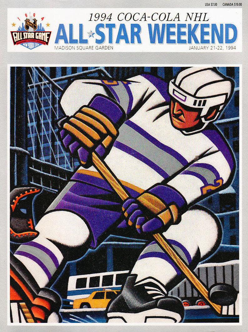 NHL All-Star Game Program Program (1993/94) - 1994 NHL All-Star Game Program - New York, NY hosted by New York Rangers SportsLogos.Net