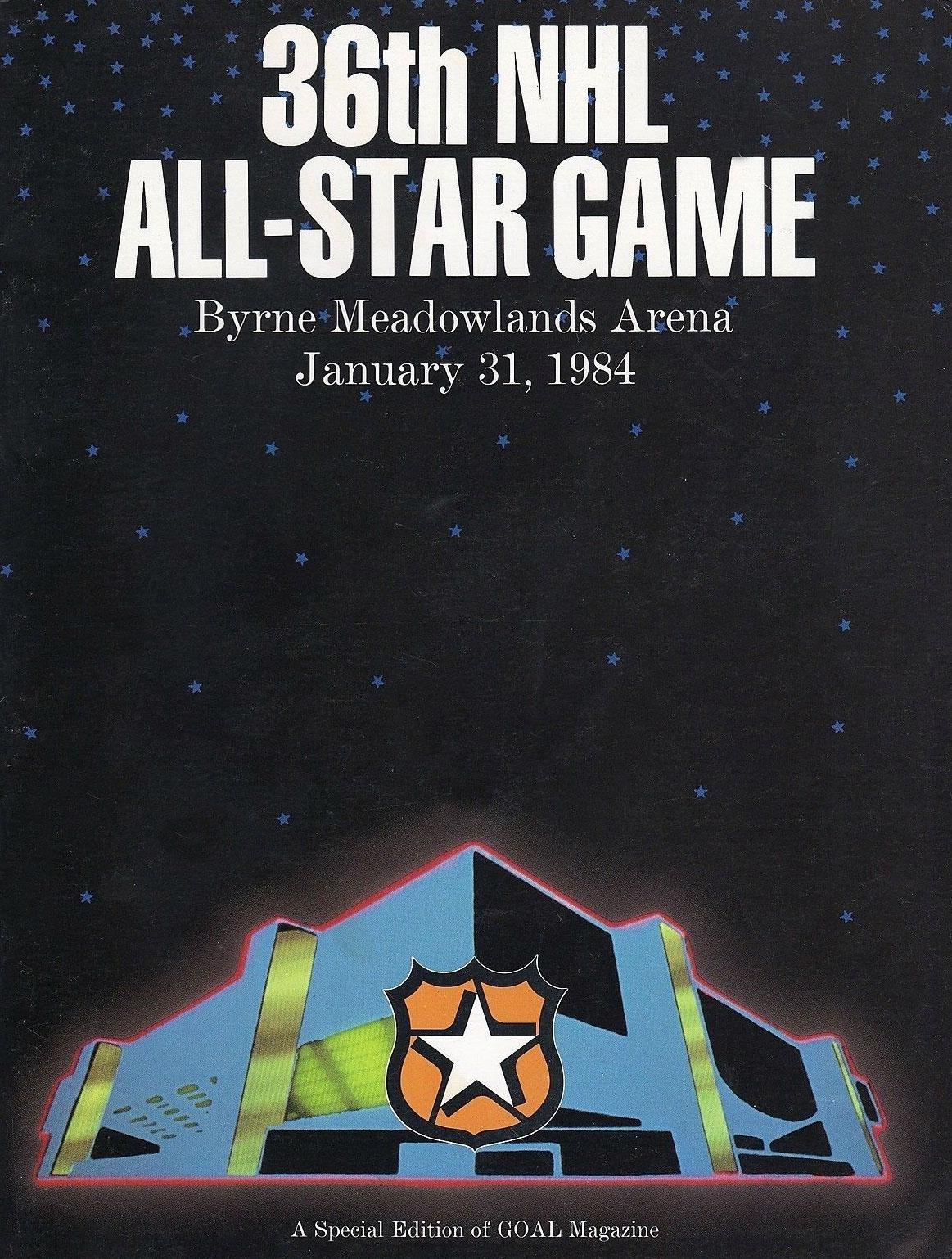 NHL All-Star Game Program Program (1983/84) - 1984 NHL All-Star Game Program - East Rutherford, NJ hosted by New Jersey Devils SportsLogos.Net