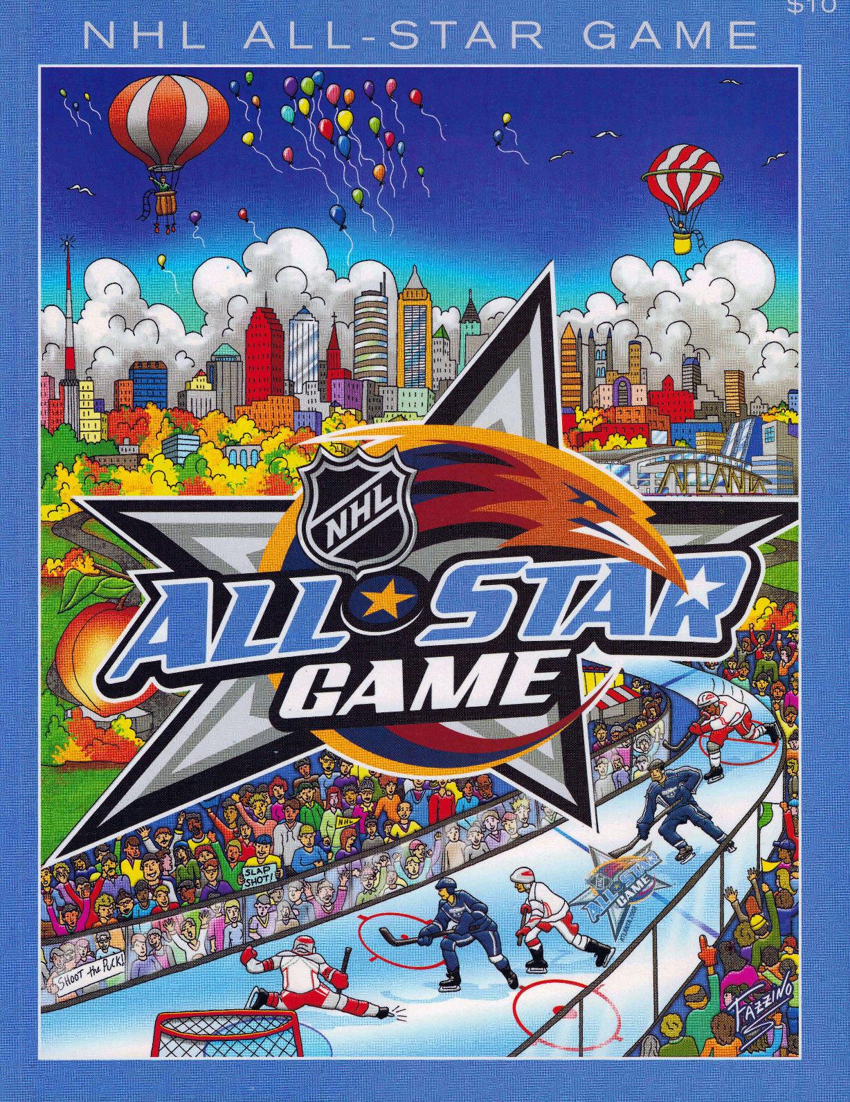 NHL All-Star Game Program Program (2007/08) - 2008 NHL All-Star Game Program - Atlanta, GA hosted by Atlanta Thrashers SportsLogos.Net