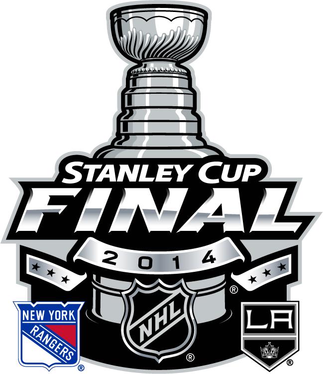 Stanley Cup Playoffs Logo Finals Matchup Logo (2013/14) - 2014 Stanley Cup Final matchup logo - Los Angeles Kings VS New York Rangers - Los Angeles won series 4-1  SportsLogos.Net