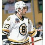 Stanley Cup Playoffs (1990) Craig Janney wearing Boston Bruins home white uniform during 1990 Stanley Cup Final