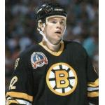 Stanley Cup Playoffs (1990) John Byce wearing Boston Bruins road black uniform during 1990 Stanley Cup Final