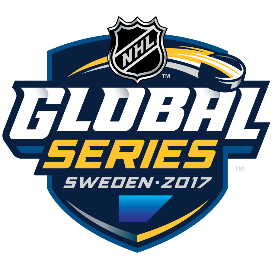 National Hockey League Logo Event Logo (2017/18) - The NHL Global Series was a series of two regular season games between the Colorado Avalanche and the Ottawa Senators that took place at Ericsson Globe in Stockholm, Sweden on November 10 and 11, 2017. SportsLogos.Net