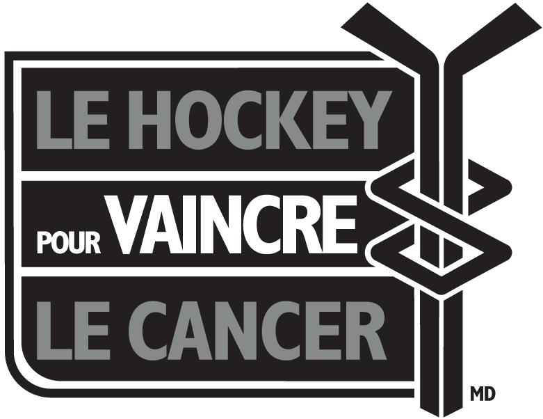 National Hockey League Logo Charity Logo (2005/06-Pres) - Hockey Fights Cancer logo - French version SportsLogos.Net