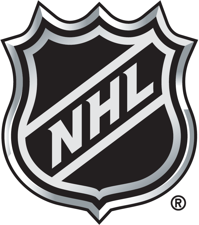 National Hockey League Logo Primary Logo (2005/06-Pres) - A black shield with NHL written diagonally in silver SportsLogos.Net