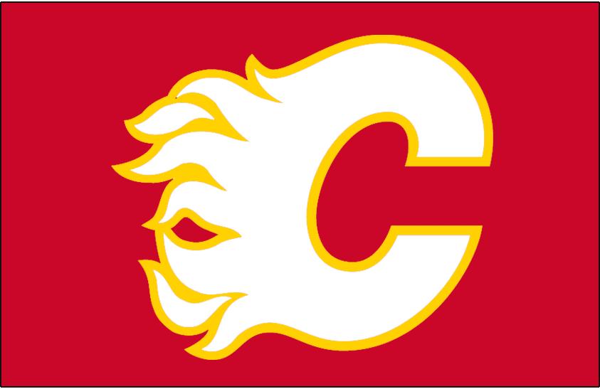 Calgary Flames Logo Jersey Logo (2009/10-2012/13) - Alternate jersey logo, worn on Flames retro inspired alternate from 2010-13 and again in 2016-17  SportsLogos.Net