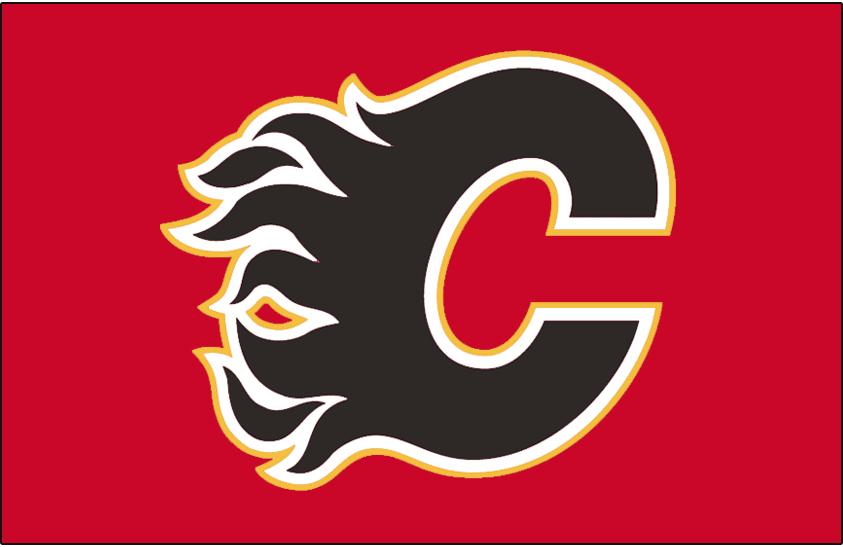 Calgary Flames Logo Jersey Logo (2003/04-Pres) - Flaming black C with a white and yellow outline, worn on Calgary Flames