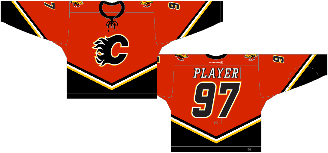 Calgary Flames Uniform 10